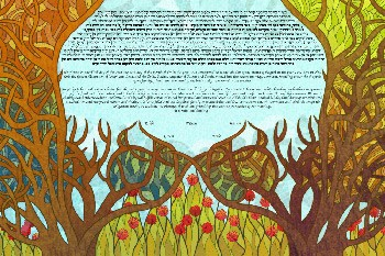 The Stained Glass Orchards Ketubah