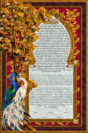 Birds of Paradise II Ketubah